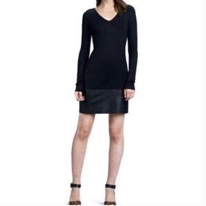 Anthropologie Velvet Black Bodycon Dress Sz XS NWT